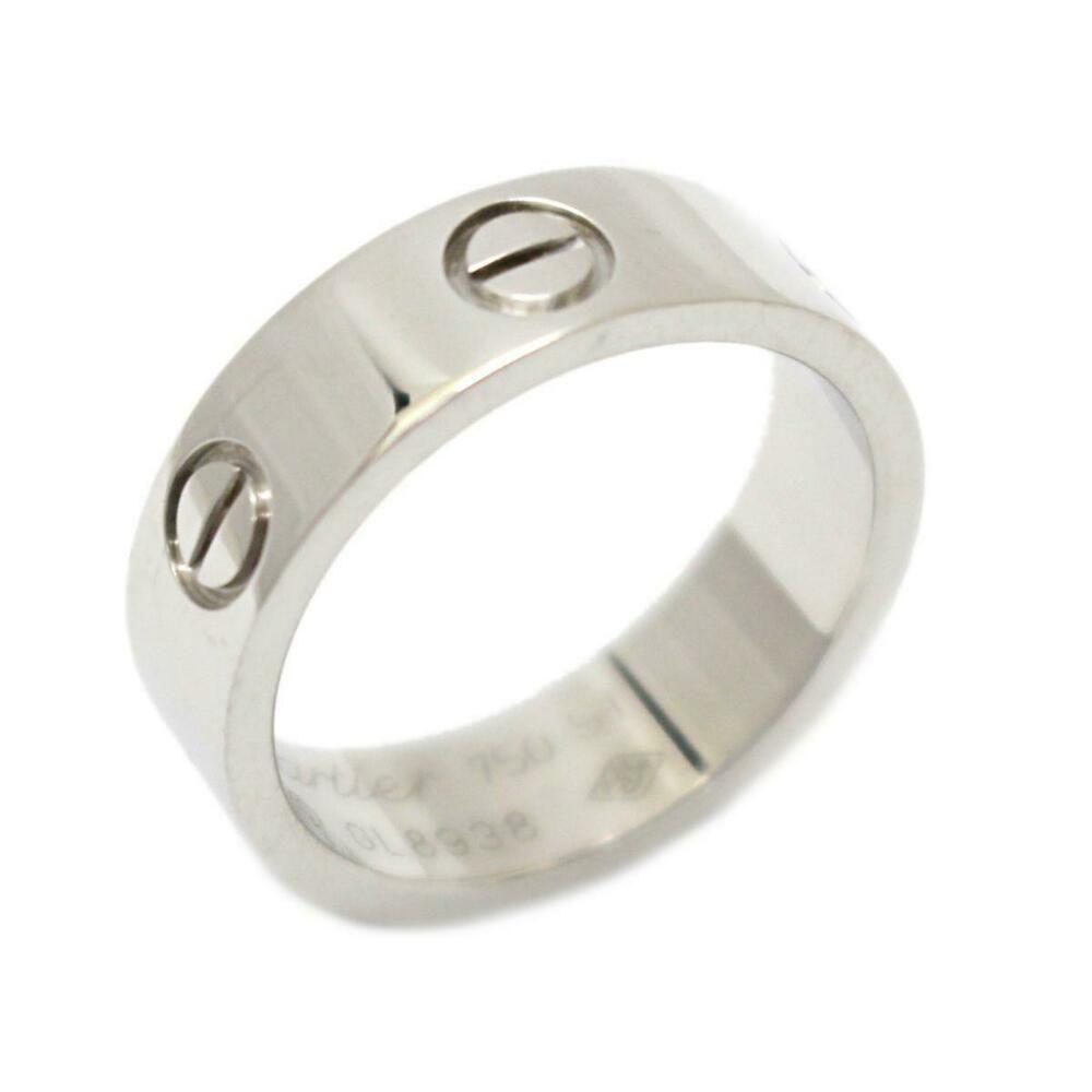 32acf700225da eBay #Sponsored Authentic Cartier Love ring K18WG (750) white gold ...