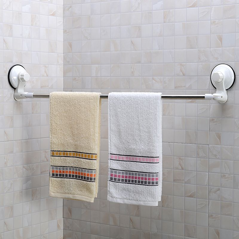 71cm stainless steel corner towel bar with suction cup wall mount towel rack for bathroom accessories - Bathroom Accessories Towel Rail