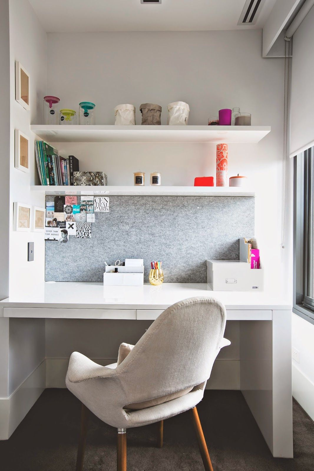 Study Room Storage: We Love Using Storage Boxes To Free Up Clutter On Our Desk
