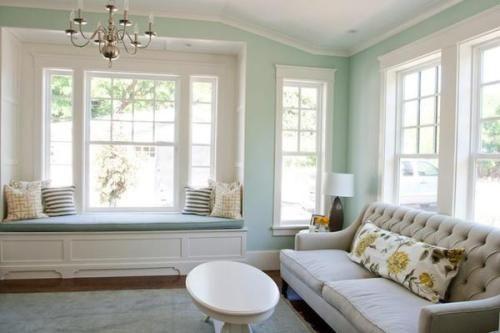Home Office Den Wall Color Prescott Green By Benjamin Moore Janelas Casa Dos Sonhos Casa Ideal