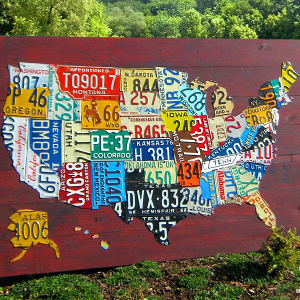 Design Turnpike Archives | Home Ideas | License plate art ... on map white on white art, map made of buttons, map of united states license, map made of tools, map made of paper, map made of flowers, map wall decor metal art, map made of books,