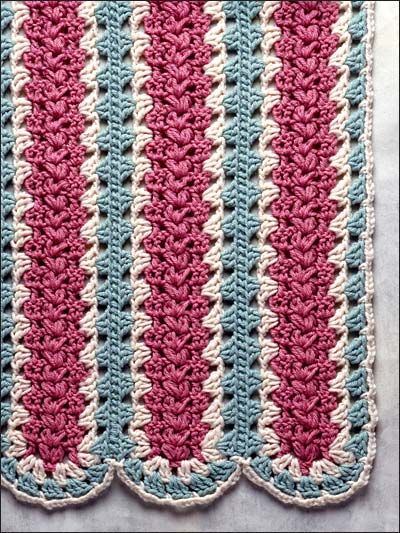 Crochet Afghan Throw Patterns Mile A Minute Patterns Puffy