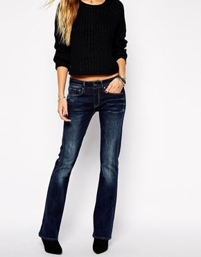 G-Star - 3301 - Bootcut-Jeans - Dunkler Used-Look   Denim, Denim ... 00cbaf59ebbe