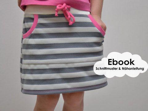 """Cozy-Skirt-Girls"""" ist ein Schnittmuster mit Anleitung für einen ..."""