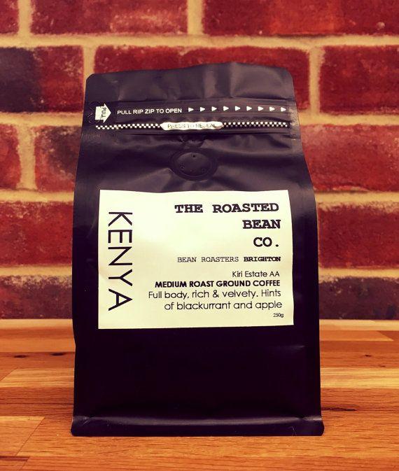 Kenya Bora Estate A B Beautiful Medium Roasted Fresh Coffee Beans Or Ground To Order Fresh Coffee Beans Coffee Coffee Packaging