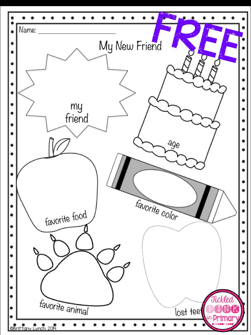 Tickled Pink In Primary Kindergarten Activities Elementary Schools Kindergarten Language Arts [ 1146 x 859 Pixel ]