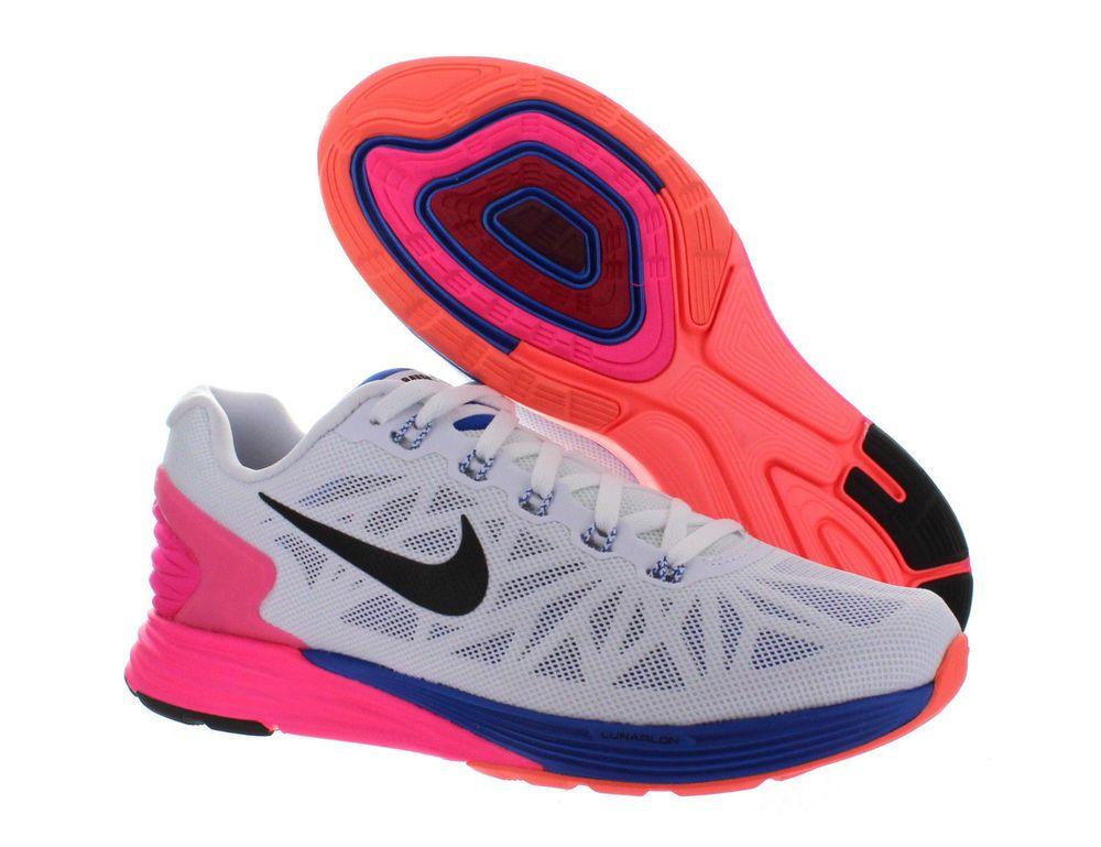 huge discount b67c5 47bb7 Womens Nike Lunarglide 6 White Black Hyper Pink Hyper Cobalt ...
