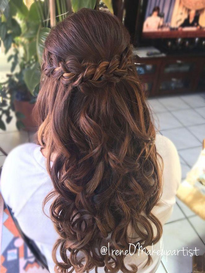 12 Prom Frisuren für langes Haar Half Up Curly Braids Updo 27 #braids #curly #s…