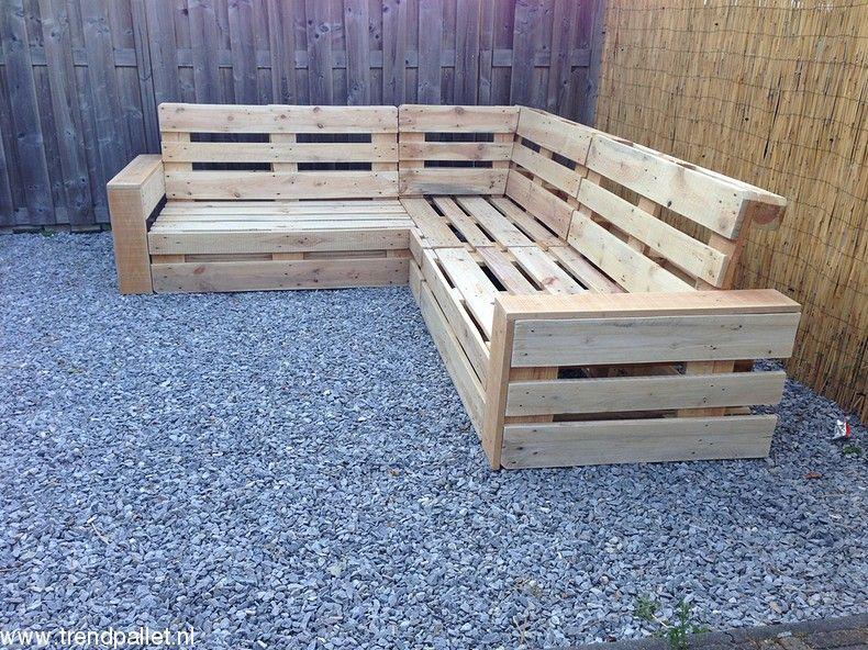 Hoekbank van pallets ls69 tuin moveis moveis pallet moveis varanda - Sitzmobel aus paletten ...