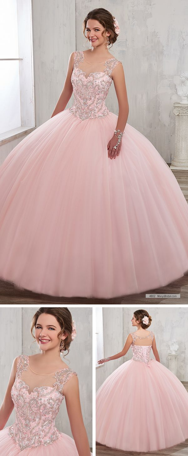 Mary\'s Quinceanera Style 4802 • Tulle quinceanera ball gown with ...