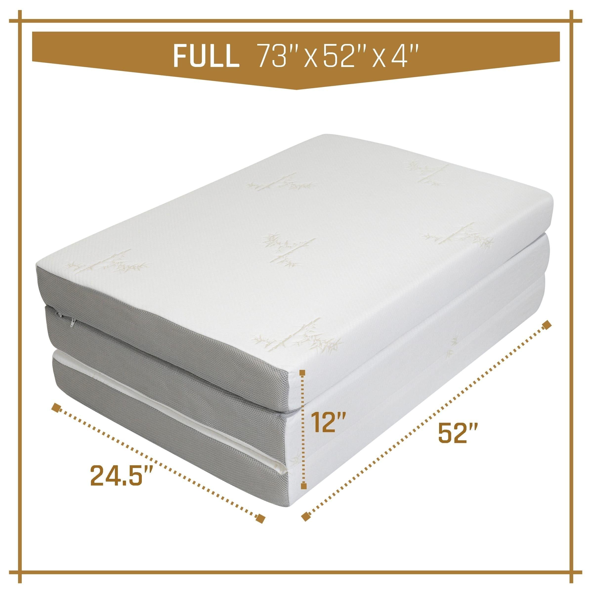 Milliard Tri Folding Mattress Full, with Ultra Soft