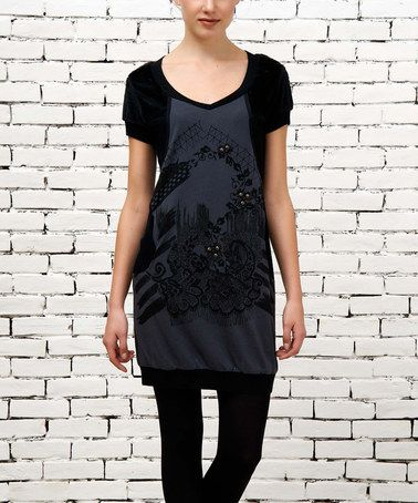 Look what I found on #zulily! Black Embellished Dress by Angels Never Die #zulilyfinds