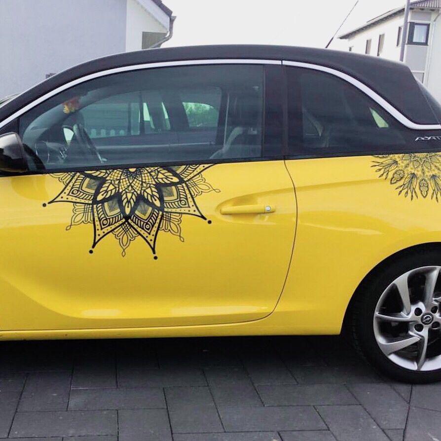 Opel Adam Mit Mandala Aufklebern Car