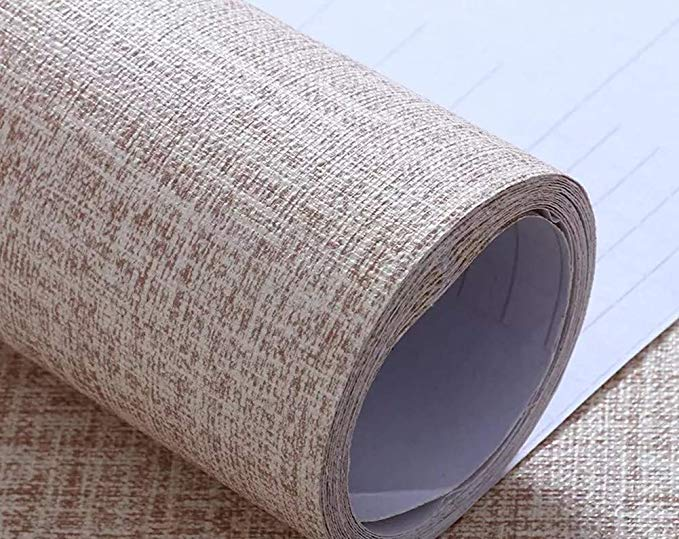 Yancorp Faux Grasscloth Peel Stick Wallpaper Fabric Self Adhesive Contact Paper Linen Removable Fireaplace Ki Grasscloth Door Stickers Peel And Stick Wallpaper