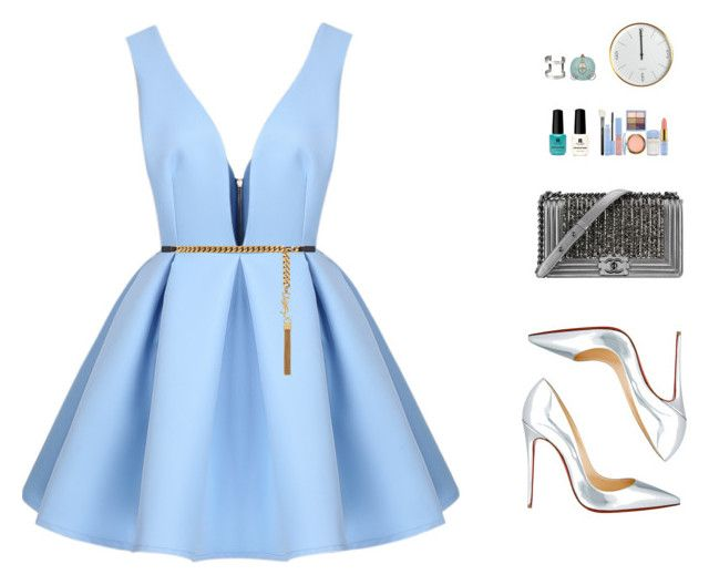 """""""The New Cinderella?"""" by vendre-du-reve ❤ liked on Polyvore featuring Christian Louboutin, Yves Saint Laurent, Red Carpet Manicure, Disney, Chanel and H&M"""
