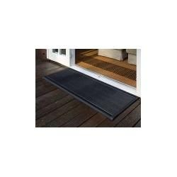 Photo of Alfombrilla para exterior New Standard Rizz grey, diseñador Trudie Zuiddam / well design, 2.2x175x70 cm Rizz