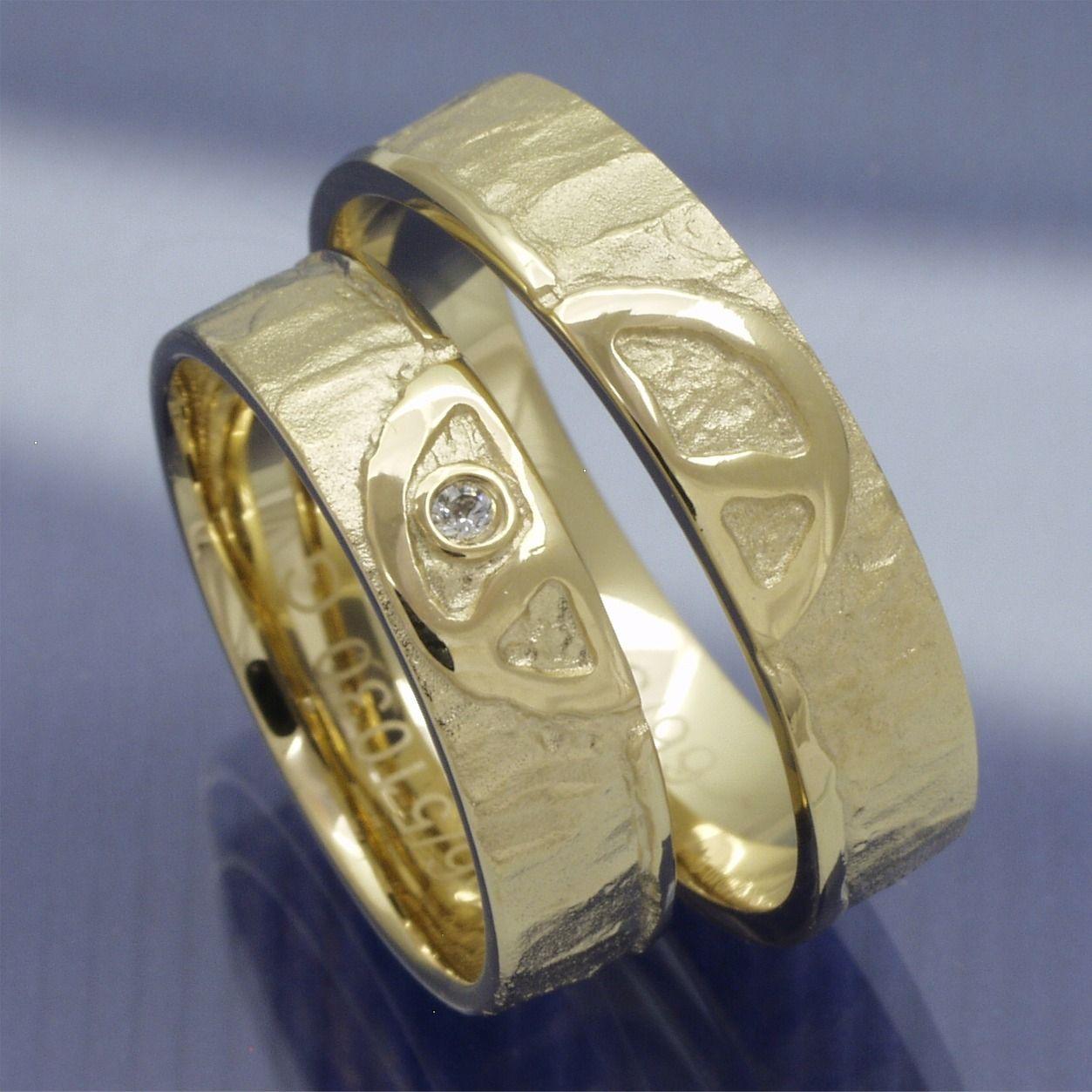 Trauringe 585 Gelbgold Peace Trauringe Männer Ringe Damen Ring