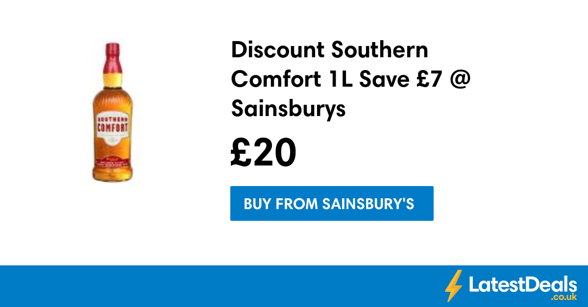 Discount Southern Comfort 1l Save 7 Sainsburys 20 At