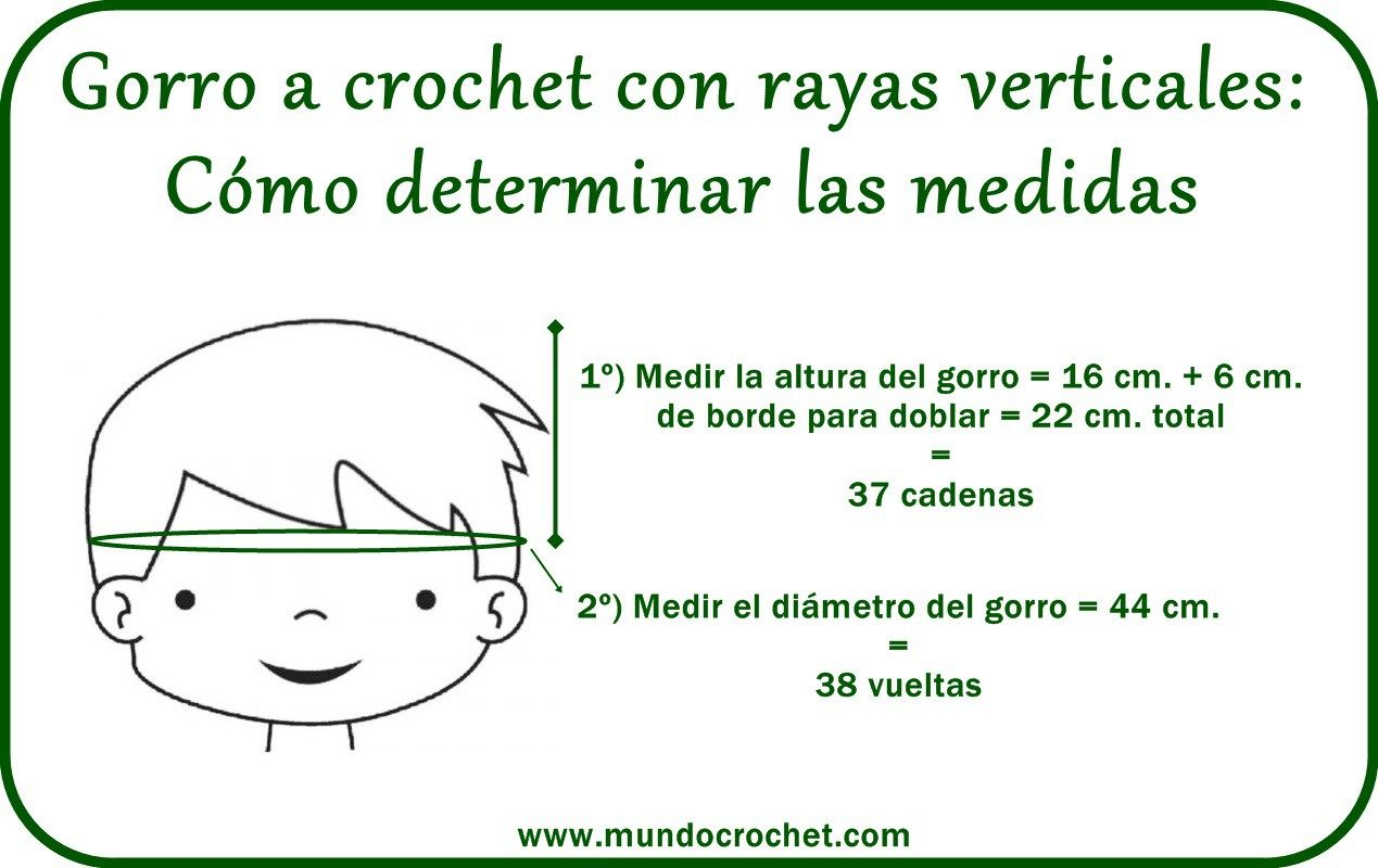 Gorro a crochet rayas verticales   nan   Pinterest   Rayas, Patron ...