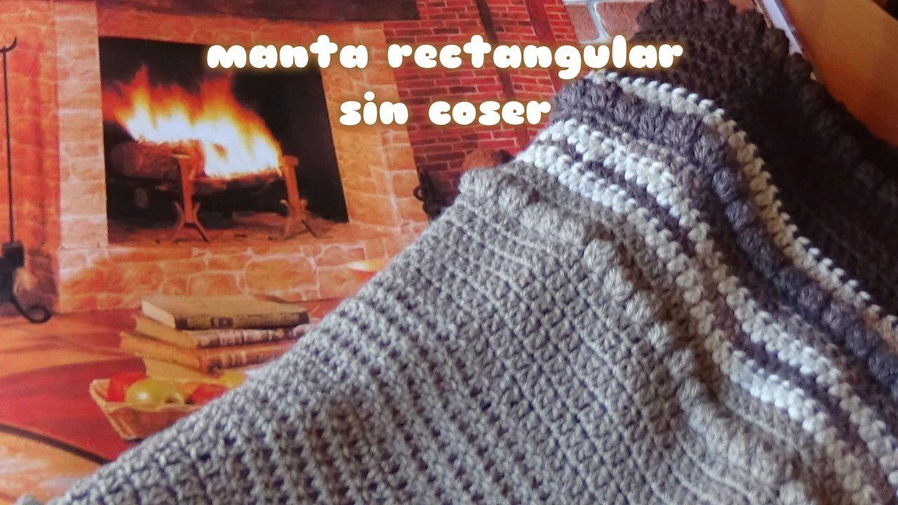 MANTA FACIL CROCHET TEJIDA DE LANA (Patrón gratis)//EASY CRANKCASE ...