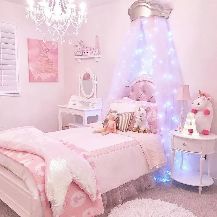 63 Cute And Girly Bedroom Decorating Tips For Girl 47 Design And Decoration Girl Bedroom Decor Kids Bedroom Decor Girly Bedroom