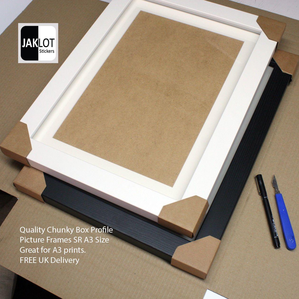 Black / White Chunky Box Photo Picture Mdf Wrap Frames Inc Mount 45 ...