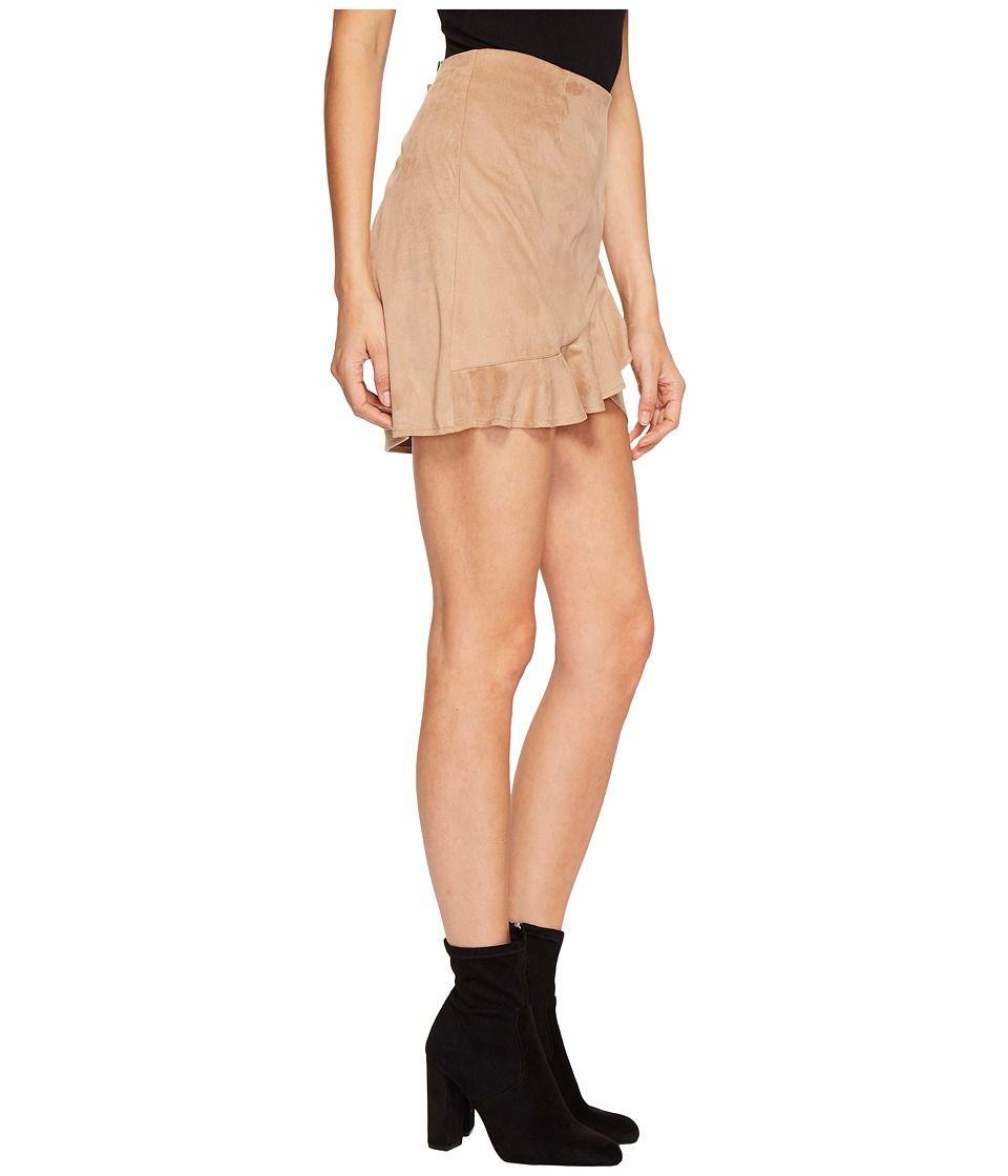 2f1101c033 Jack by BB Dakota Khan Faux Suede Ruffle Skirt Women's Skirt Sienna ...