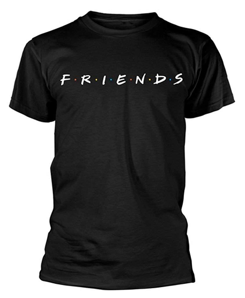 Friends Logo Black T Shirt Amazon Co Uk Clothing Printed