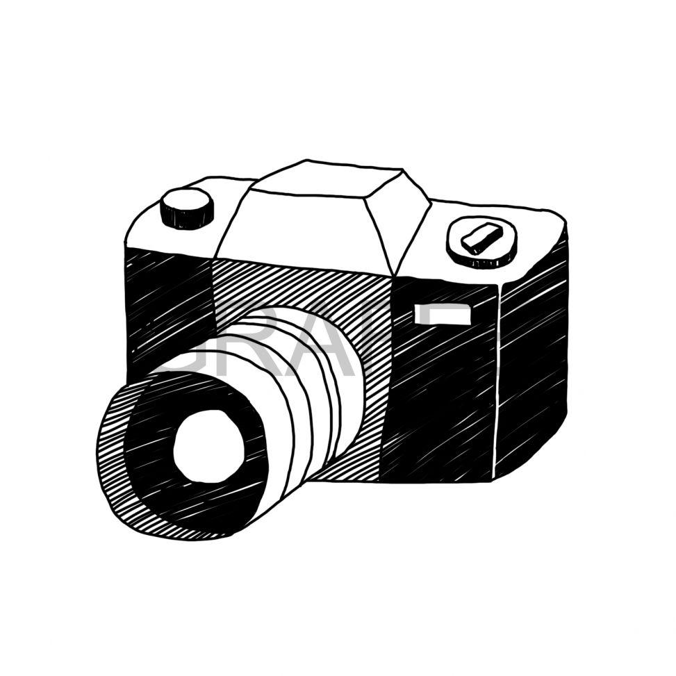 2018 年の「一眼レフカメラのイラスト_サムネイル | illustration