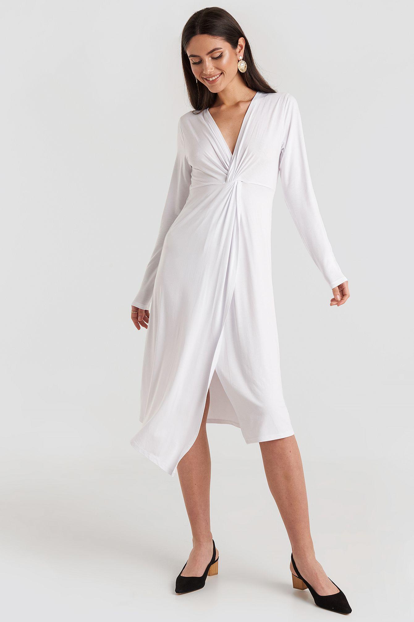 Photo of Twist Front Midi Dress
