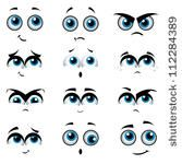 ghost eyes template cartoon faces with various