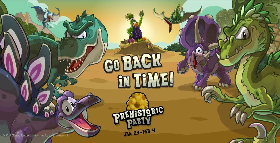 it's so awesome woo! | Prehistoric party, Club penguin, Theme park