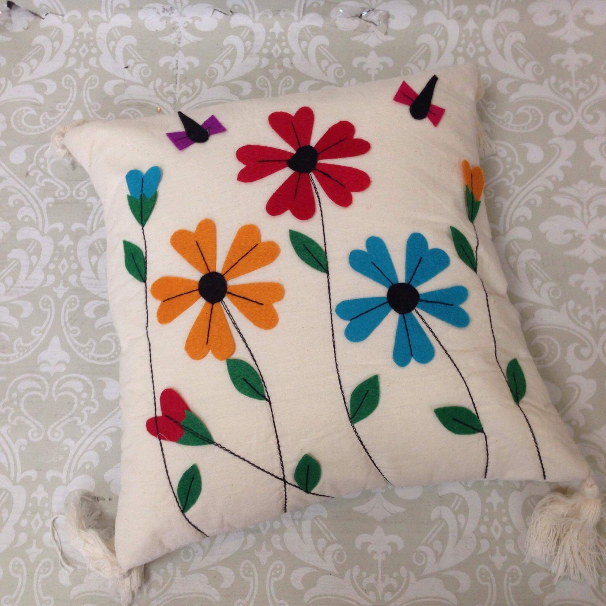 Patch Work Cushion Cover Traditional Indian Home Decor
