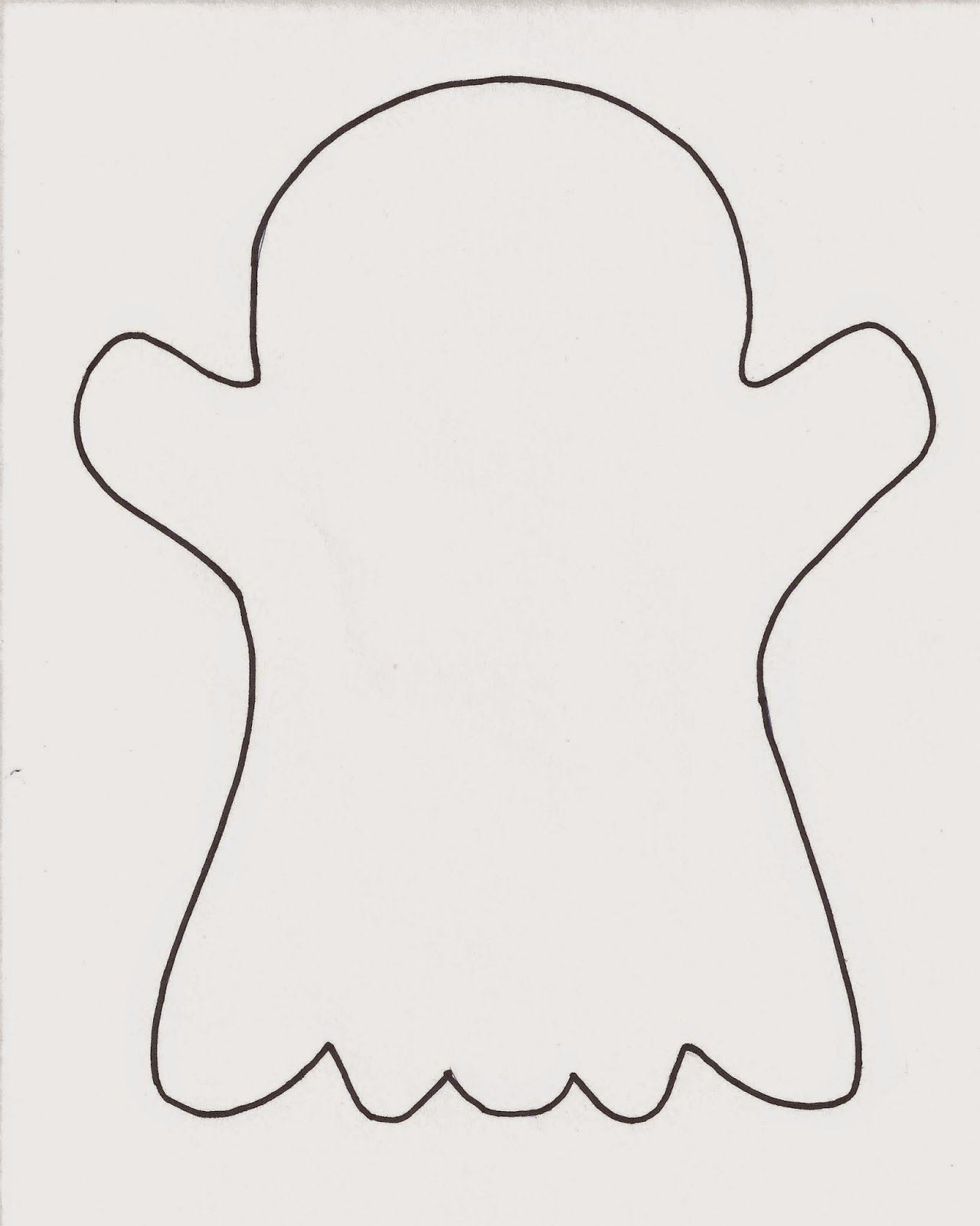 Click here for a free printable ghost template . | ACTIVITES FOR ...