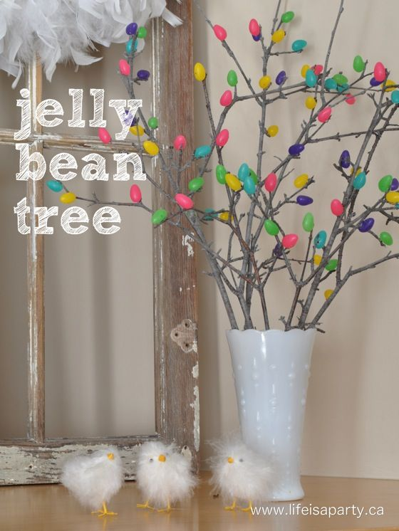 Jelly Bean Tree: how to make a jelly bean tree for Easter with ... on flowers with twigs, decorating with twigs, design with twigs, centerpiece with twigs, rings made from twigs, white twigs, heart with twigs, cross with twigs, glass with twigs, bouquet with twigs, jewelry with twigs, mirror with twigs, wine bottle with twigs, painting with twigs, chandelier with twigs, roses with twigs, basket with twigs, colorful twigs, ikebana with twigs,