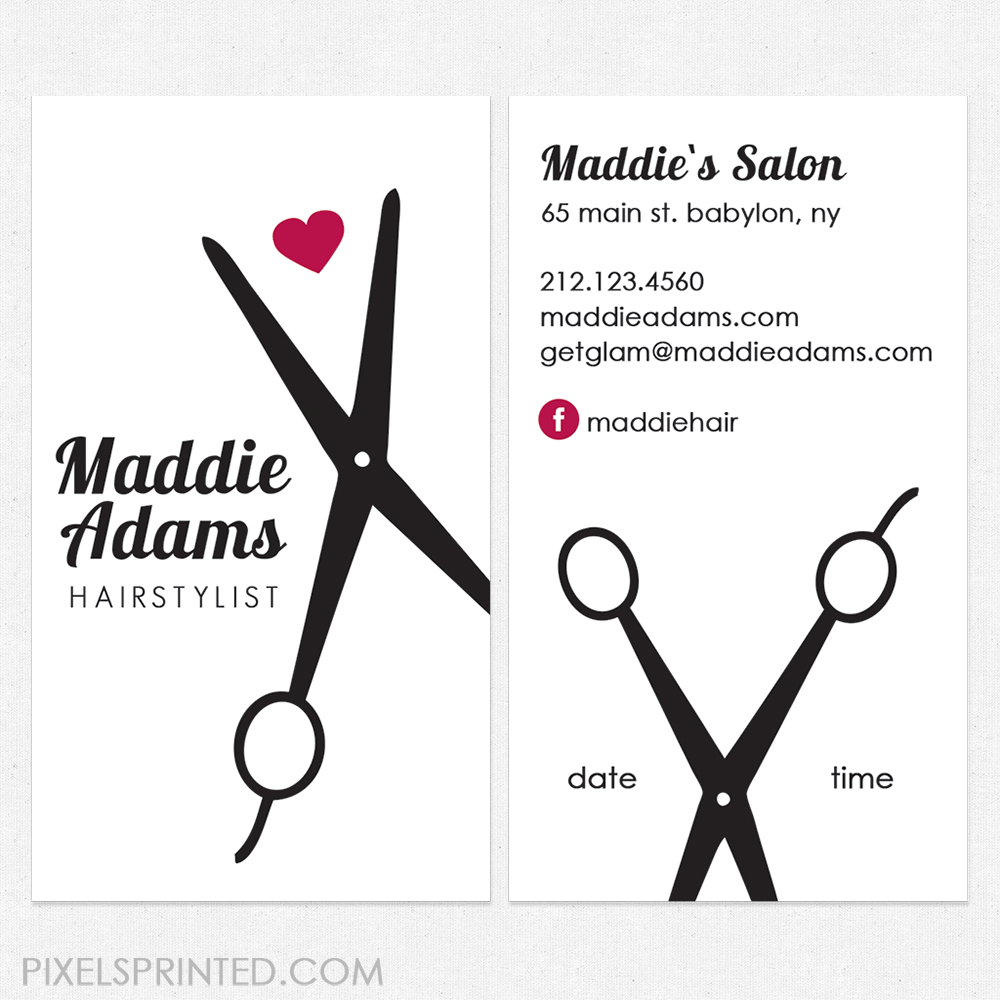 hair salon cards, unique hairstylist business cards, salon business ...