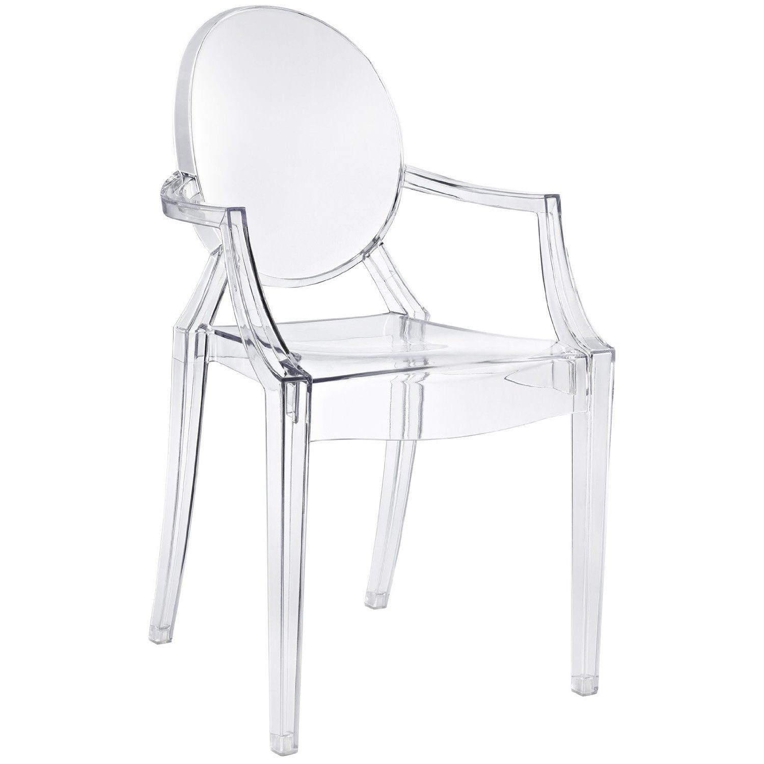 Clear Kitchen Chairs: Amazon.com: LexMod Philippe Starck Style Louis Ghost Chair