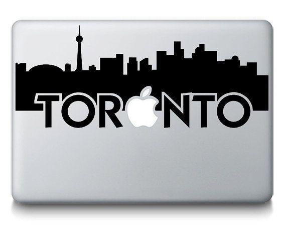 Toronto Skyline City Silhouette Macbook By Stickerbrosdecals