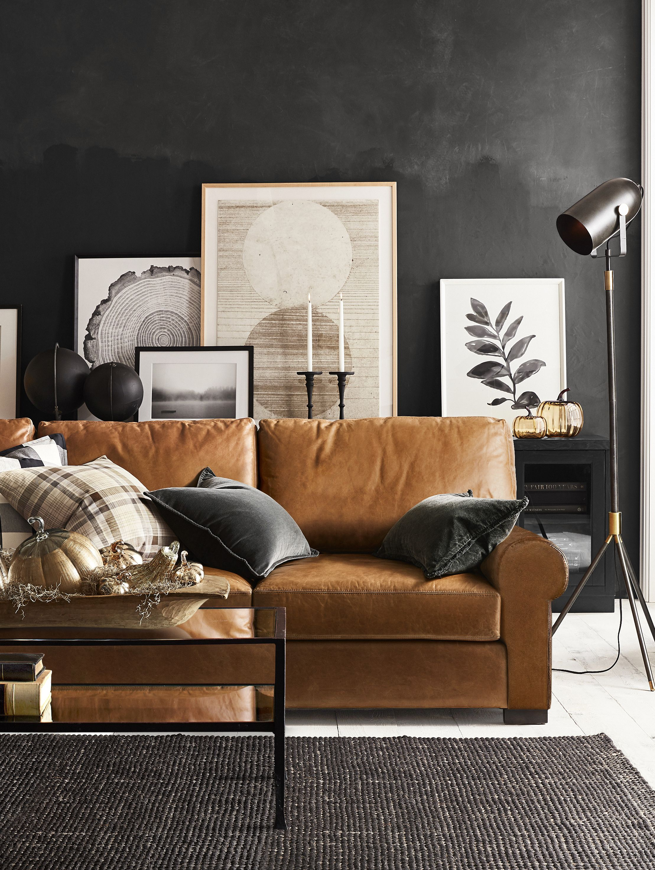 Love 😍the Contrast Of The Caramel Sofa With The Tricorn