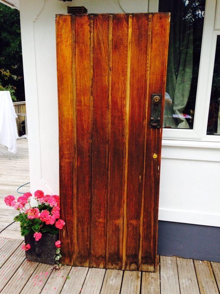 solid oak front door old reclaimed external timber wood 1900s