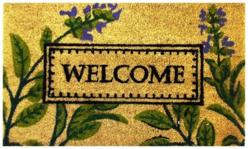 Welcome Floral - Printed Coco Doormat - Heavy Duty Outdoor Premium Coir Mat 18x30 by Iron Gate by Iron Gate. $15.99. Heavy Duty attractive printed Welcome Floral premium outdoor coir mat.. Printed Coir doormats are made from 100% coconut husks.. These extremely durable mats will keep their appearance for a long time even in high traffic areas.. The bristled coco fibers stand up and grab dirt very well. Compact weave prevents mat from shedding.. Care: To clean your coir mat simpl...