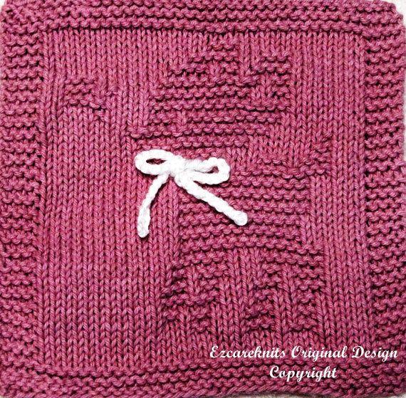 Baby Washcloths Knitting Patterns: Knitting Cloth Pattern FANCY FAWN Instant By Ezcareknits
