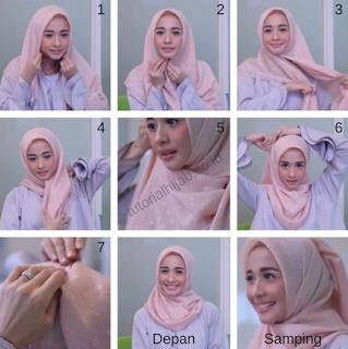 Tutorial Hijab Organza Segi Empat Blog Lif Co Id