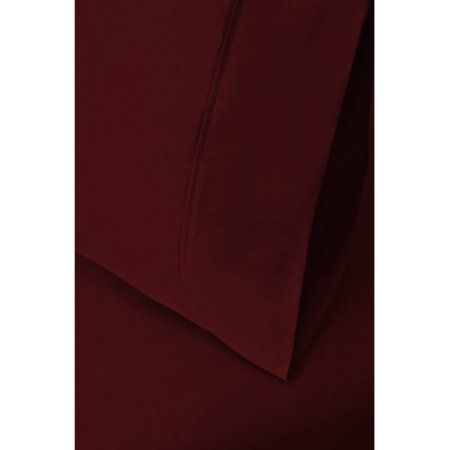 Simple Luxury 400 Thread Count Egyptian Quality Cotton Solid Pillowcase (Set of 2), Red