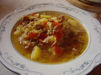 Spitzkohl-Eintopf mit Hackfleisch #spitzkohlrezeptehackfleisch