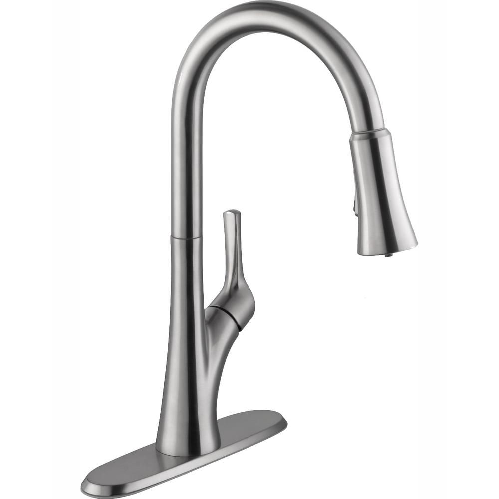 Glacier Bay Single Handle Pull Down Sprayer Kitchen Faucet With