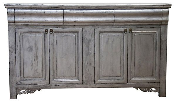 One Kings Lane - Straight from the Source - Octavius 4-Door Sideboard. Gray