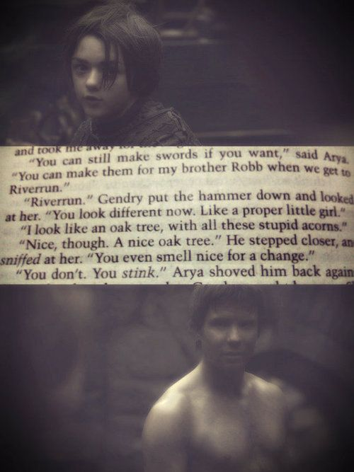 gendry and arya relationship quotes