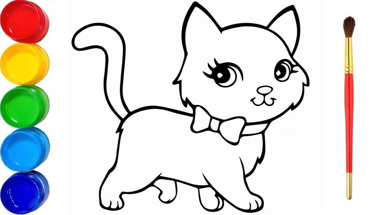 Zeichnen Und Farben Schone Katze Katzen Zeichnen Wir Lernen Die Farben Susse Bilder Zeichnen Zeichnen Und Farben Katze Malen Katze Zeichnen Katzen Malereien