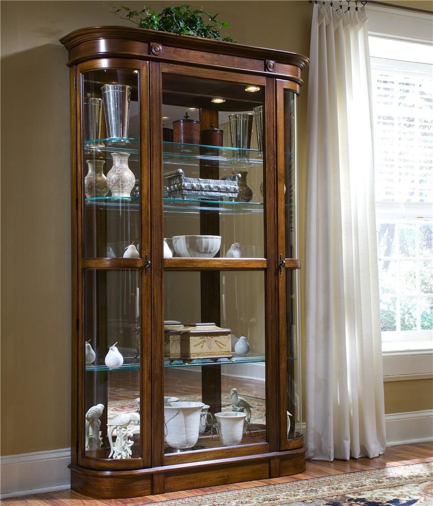 curios two door curio cabinetpulaski furniture | cabinets